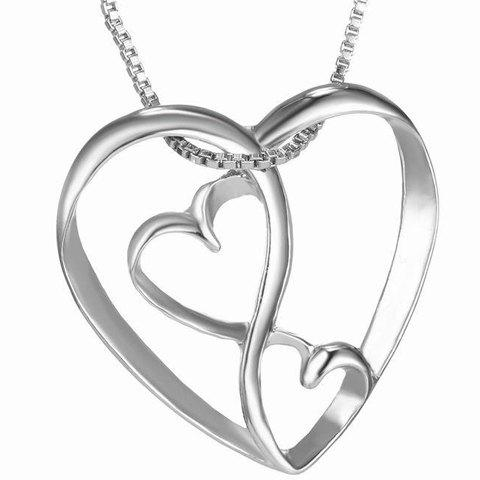 Best Cute Multilayered Heart Shape Hollow Pendant Necklace For Women
