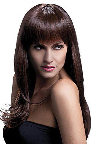 Fashion Trendy 70CM Long Layered Full Bang Synthetic Fluffy Natural Wavy Cosplay Wig For Women
