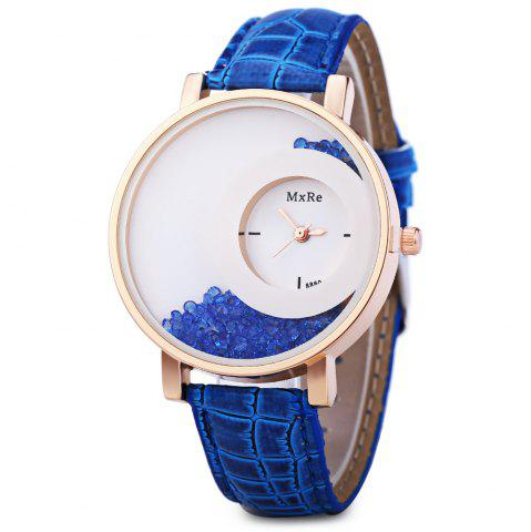 Sale Women Rhinestone Quartz Watch Leather Band