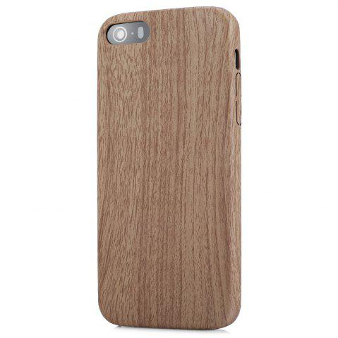 Trendy ASLING Wood Style Protective Back Case for iPhone 5 / 5S / SE Anti-scratch TPU Material Ultra-thin -   Mobile