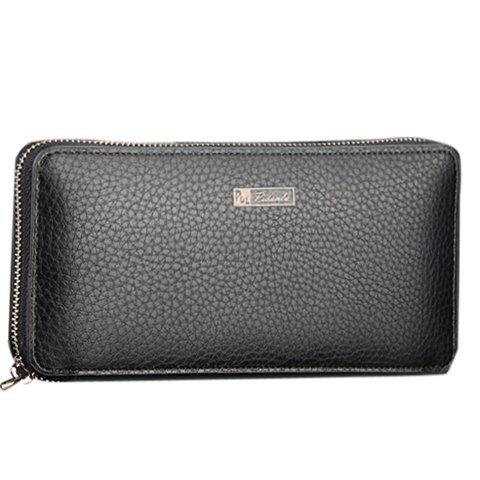 New Casual Lichee Pattern and PU Leather Design Men's Clutch Bag