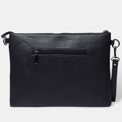 Shops Stylish Rivets and Black Design Men's Clutch Bag - BLACK  Mobile