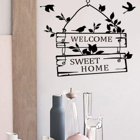 Chic Hot Sale Welcome Sweet Home Wall Sticker For Living Room