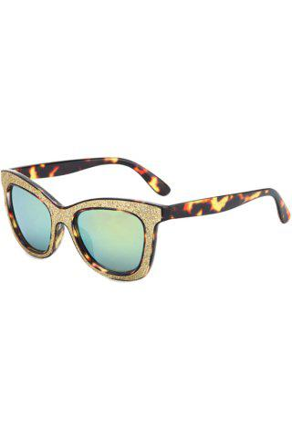 Online Chic Leopard Glitter Powder Frame Sunglasses For Women