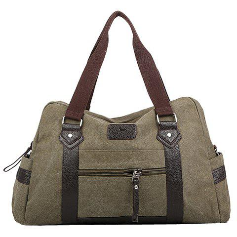 Store Leisure Zipper and Canvas Design Men's Messenger Bag