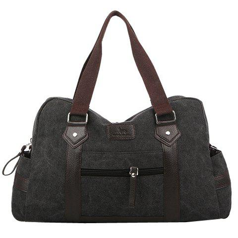 Shop Leisure Zipper and Canvas Design Men's Messenger Bag