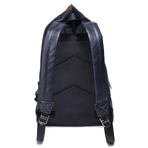 Shops Leisure PU Leather and Zipper Design Men's Backpack -   Mobile