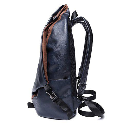 Fashion Leisure PU Leather and Zipper Design Men's Backpack -   Mobile