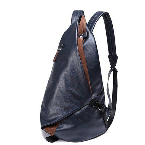 Hot Leisure PU Leather and Zipper Design Men's Backpack -   Mobile