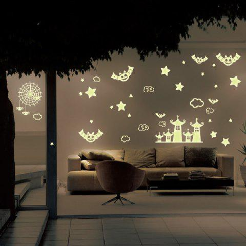 Shops Cute Castle and Batman Pattern Removable DIY Wall Sticker For Children's Room