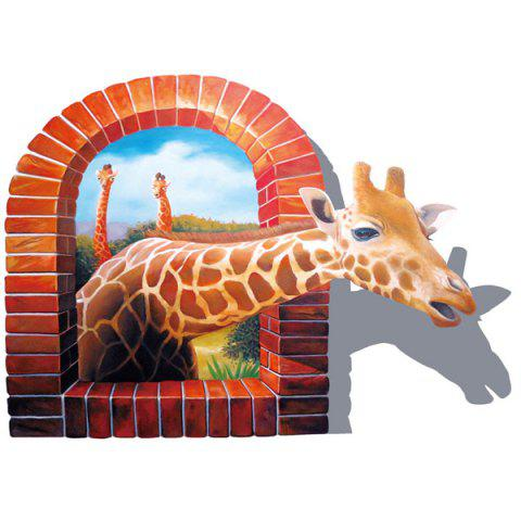 Discount Giraffe Animal Removable 3D Wall Sticker For Kid's Room