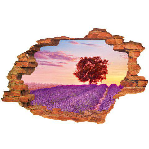 Affordable Lavender Pattern Design Removable 3D Wall Sticker For Home Decor