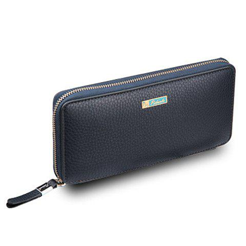Outfit Simple Lichee Pattern and PU Leather Design Men's Clutch Bag