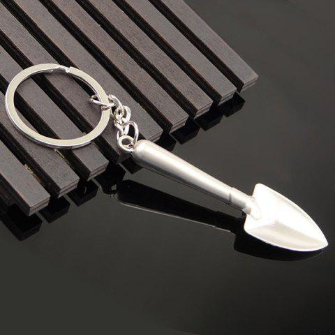 Trendy Metal Shovel Shape Keyring SILVER
