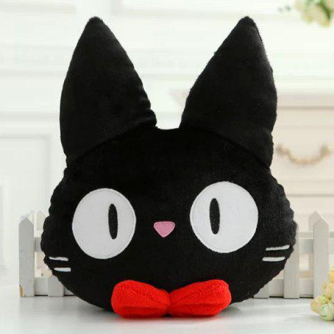Latest Hot Sale Cat Shape Cartoon Cushion Black Pillow - BLACK  Mobile
