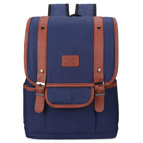 Buy Fashionable Double Buckle Canvas Design Men's Backpack