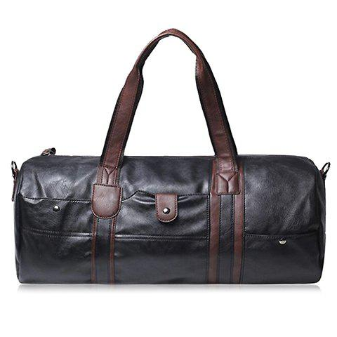 Trendy Concise PU Leather and Rivets Design Men's Messenger Bag