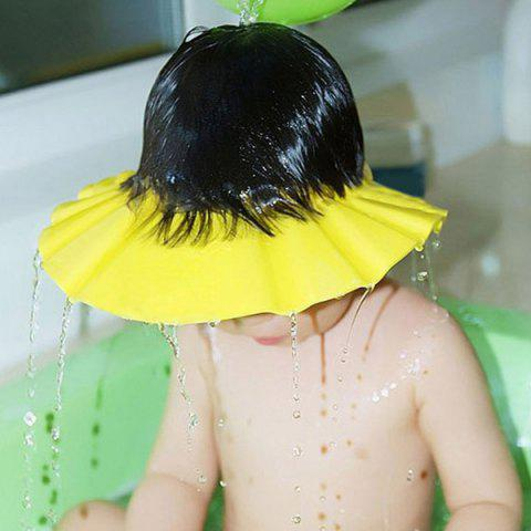 Chic Fashionable Adjustable Yellow Thicken Baby Shampoo Cap