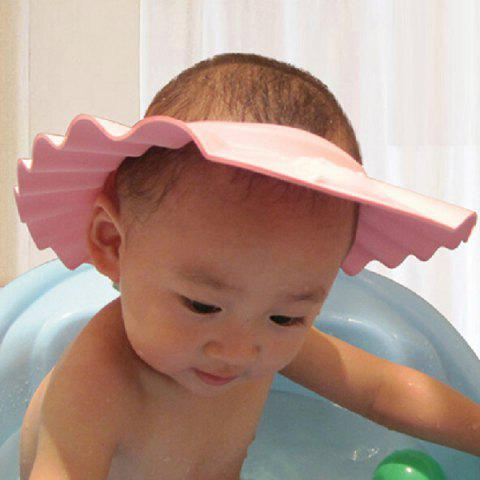 Discount High Quality Adjustable Pink Thicken Baby Shower Cap