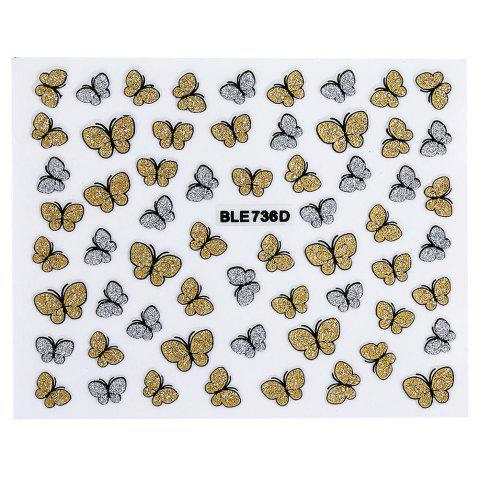 Best Fashion 3D DIY Butterfly Nail Art Shinning Stickers