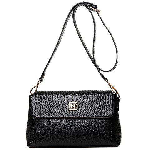 New Fashion Solid Colour and Embossing Design Women's Shoulder Bag