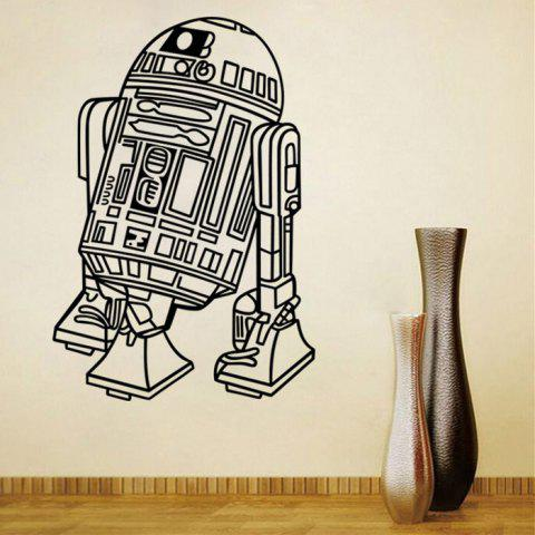 Chic w-26 Robot Style Removable Wall Sticker Water Resistant Home Art Decals