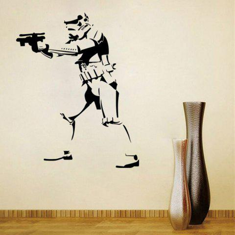 Discount w-27 Stormtrooper Style Removable Wall Sticker Water Resistant Home Art Decals