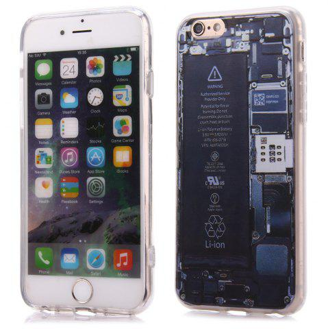 Fashion Battery Pattern TPU Material Protective Back Case for iPhone 6 / 6S -   Mobile