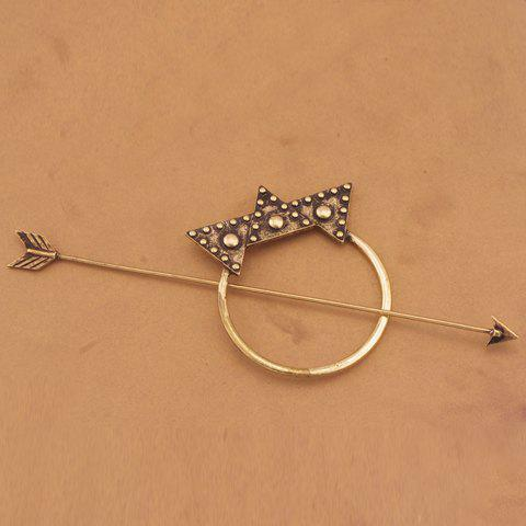 Best Vintage Arrow Shape Triangle Hairpin For Women - BRONZE-COLORED  Mobile