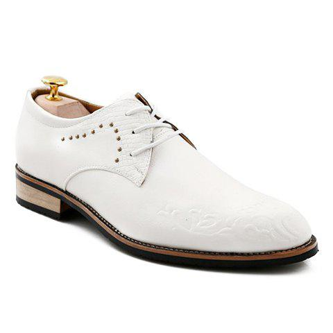 Store Fashionable Metal and Embossing Design Men's Formal Shoes