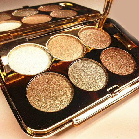 Hot Practical 6 Colours Diamond Eyeshadow Palette with Mirror and Brush