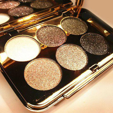 Best Practical 6 Colours Diamond Eyeshadow Palette with Mirror and Brush - #04  Mobile