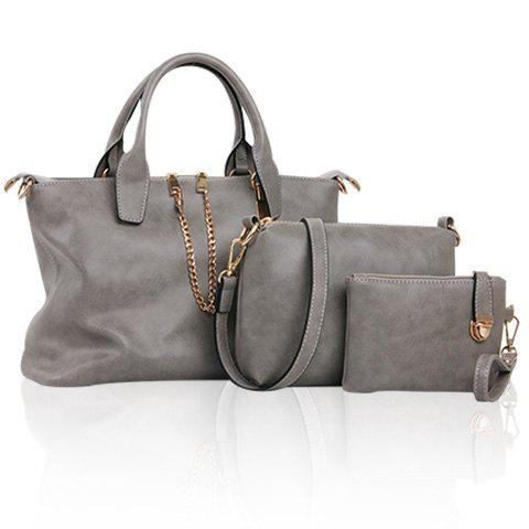Unique Simple Chains and Solid Color Design Women's Tote Bag