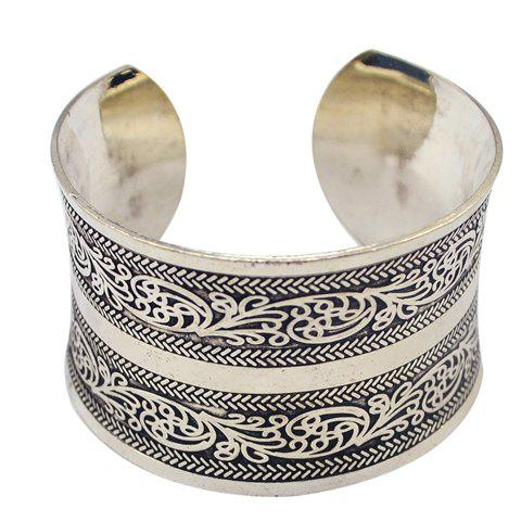 Outfit Vintage Carving Pattern Cuff Bracelet