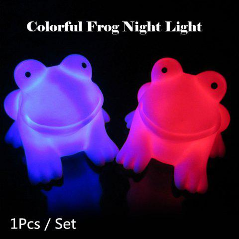 Outfit Magic LED Frog Night Light PVC Novelty Lamp Changing Color Toy AS THE PICTURE