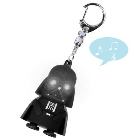 Key Chain with White LED Light   Sound