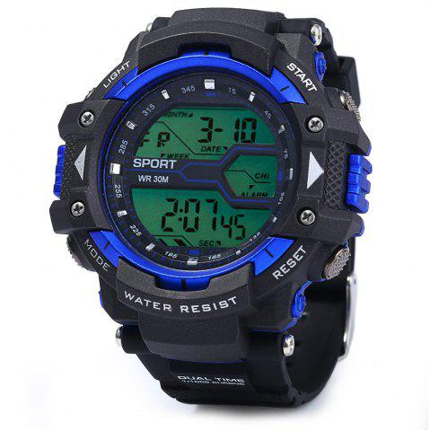 Store 8338G Alarm Day Date Stopwatch Display Men LED Sports Watch - GOLDEN  Mobile