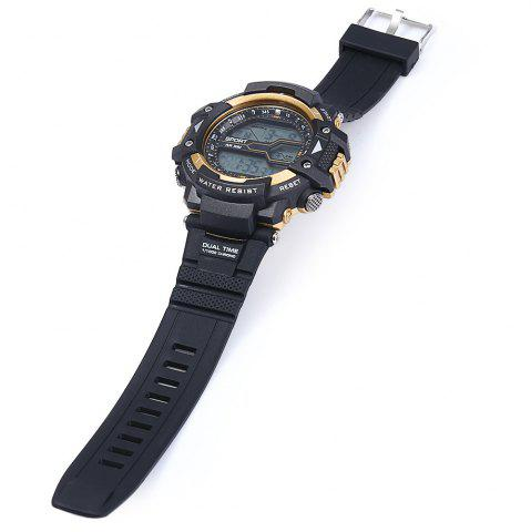 Affordable 8338G Alarm Day Date Stopwatch Display Men LED Sports Watch - GOLDEN  Mobile