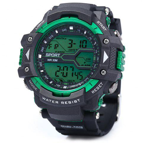 Buy 8338G Alarm Day Date Stopwatch Display Men LED Sports Watch - GOLDEN  Mobile