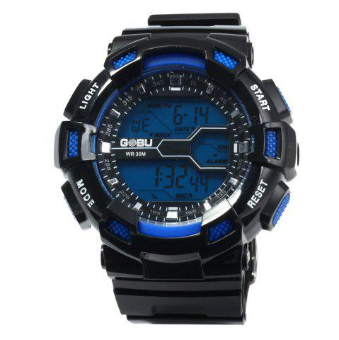 Fashion Gobu 1520 Multifunctional Male LED Sports Watch Rubber Band -   Mobile
