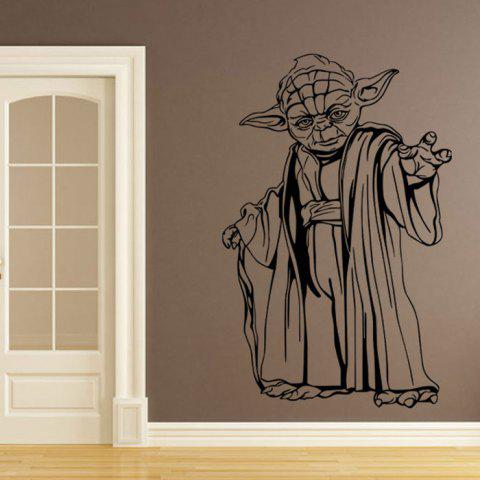 Latest w-22 YODA Style Removable Wall Stickers Water Resistant Home Art Decals