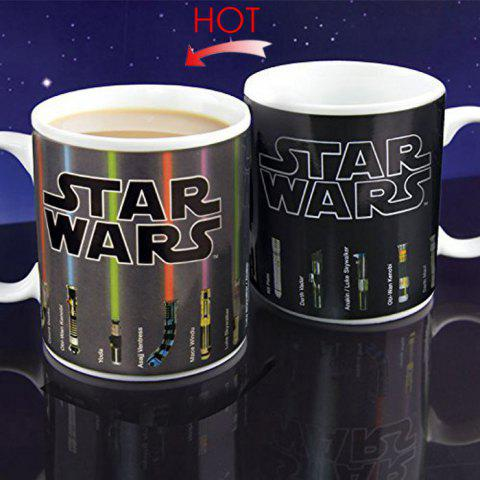 Unique Thermal Discoloration Mug Creative Temperature Change Ceramic Cups