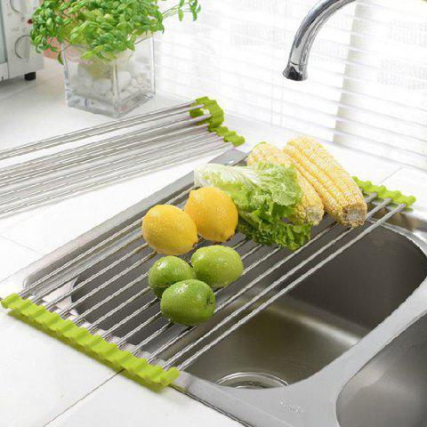 Discount Creative Multifunctional Stainless Steel Folding Drainer Rack