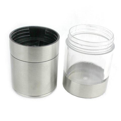 Fancy Stainless Steel Manual Pepper Grinder Condiment Blenders Kitchen Gadget - SILVER  Mobile