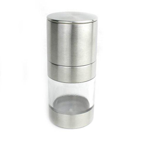 Stainless Steel Manual Pepper Grinder Condiment Blenders Kitchen Gadget - SILVER
