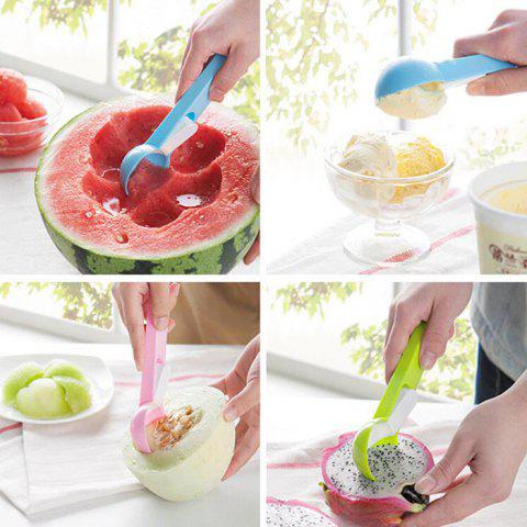Shop ABS Ice Cream Fruits Spoon with Press Button Practical Kitchen Gadget