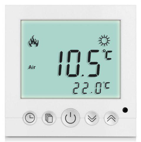 Latest TS-C16 LCD Display Heating Thermostat Touchscreen Durable Temperature Controller - WHITE  Mobile