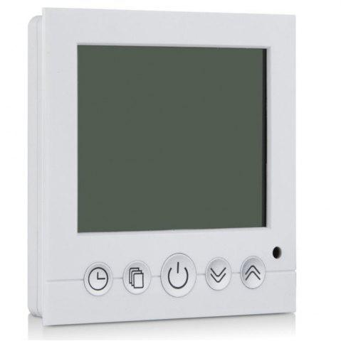 Affordable TS-C16 LCD Display Heating Thermostat Touchscreen Durable Temperature Controller - WHITE  Mobile