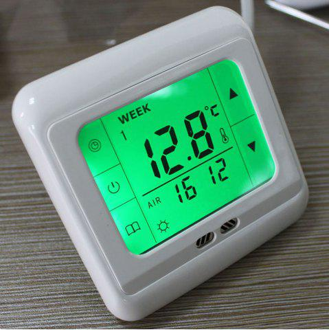 Affordable TS-C07 LCD Display Thermostat Heating Control Weekly Programmable Device - GREEN  Mobile