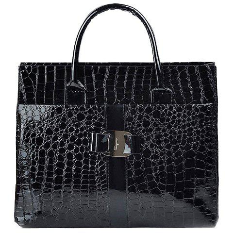 Outfit Fashionable Embossing and Metal Design Women's Tote Bag